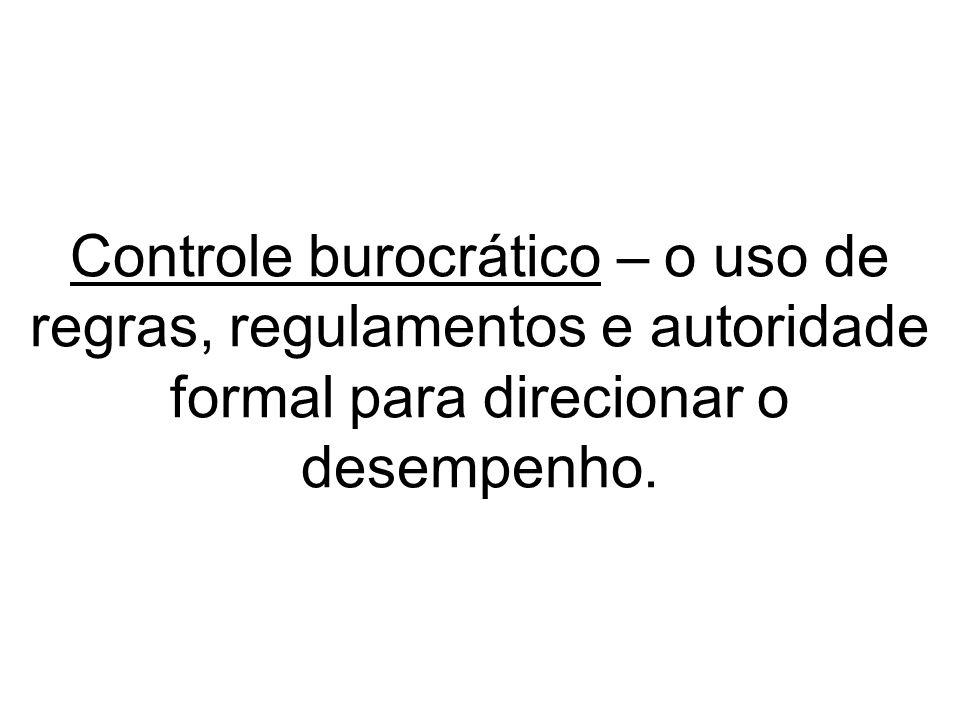 (1)Comportamento burocrático rígido - o sistema de controle não é mais visto como ferramenta para gestão do negócio, mas como regra para ditar um comportamento rígido;