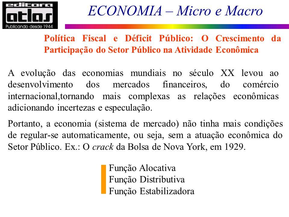 ECONOMIA – Micro e Macro 3 A evolução das economias mundiais no século XX levou ao desenvolvimento dos mercados financeiros, do comércio internacional