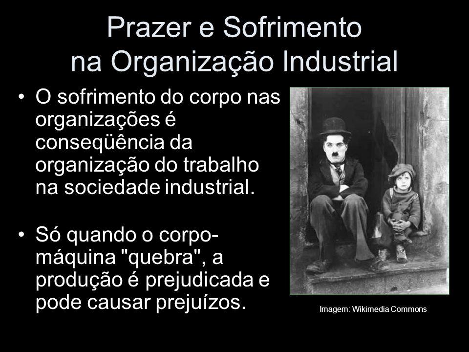 Prazer e Sofrimento na Organização Industrial O sofrimento do corpo nas organizações é conseqüência da organização do trabalho na sociedade industrial