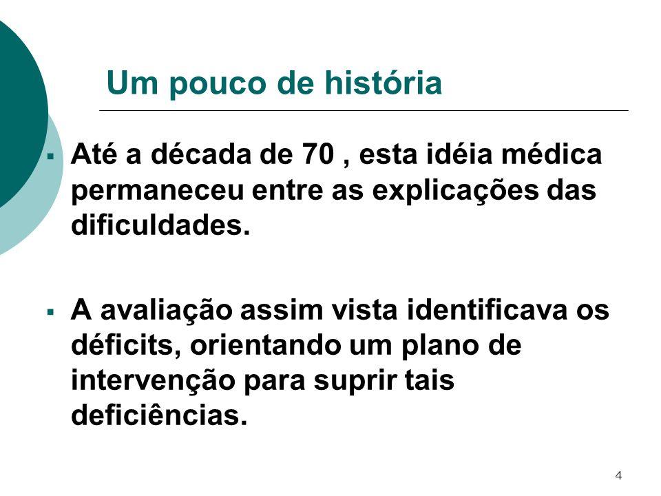 5 Um pouco de história No Brasil tais explicações nortearam a prática pedagógica durante anos.