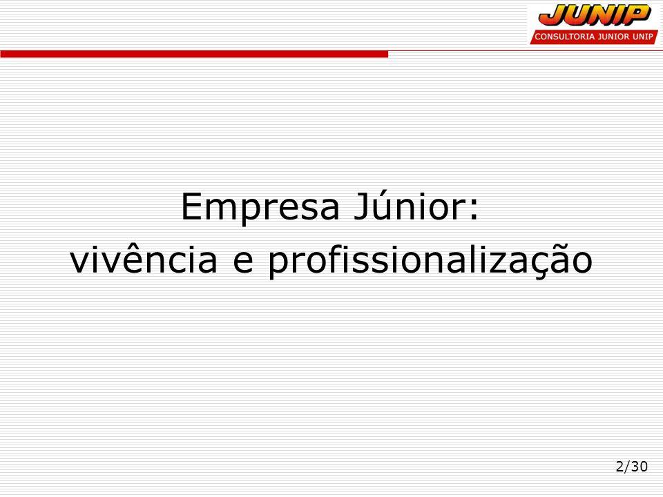 2/30 Empresa Júnior: vivência e profissionalização