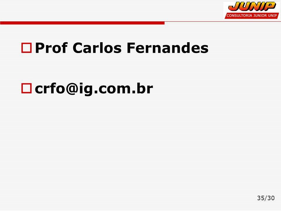 Prof Carlos Fernandes crfo@ig.com.br 35/30