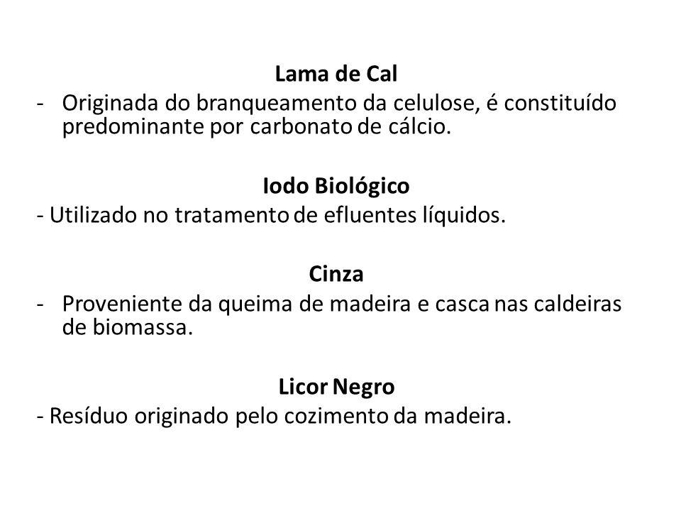 Subprodutos Fertilizantes; Fonte de energia; Licor Branco; Licor Negro (lignina e resto de covacos cozidos); Tail Oil.