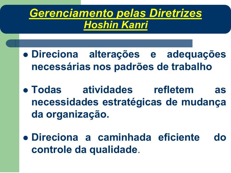 Direciona alterações e adequações necessárias nos padrões de trabalho Todas atividades refletem as necessidades estratégicas de mudança da organização