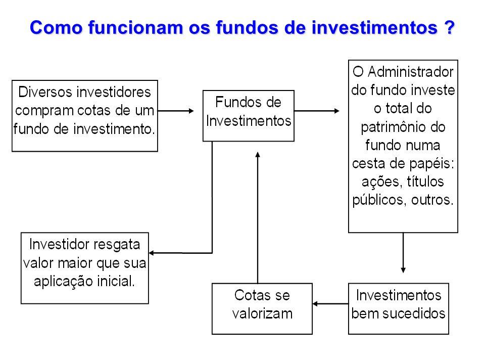 Como funcionam os fundos de investimentos ?