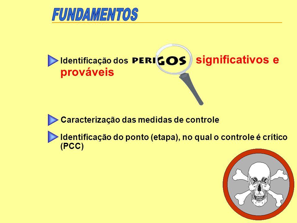 Estabelecer controle efetivo no Ponto Crítico Monitorização Tomada de ações corretivas Registro Verificação