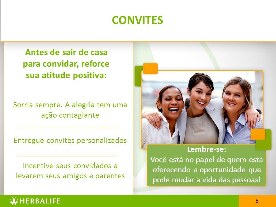 CONVITES Sorria sempre. A alegria tem uma ação contagiante Entregue convites personalizados Incentive seus convidados a levarem seus amigos e parentes
