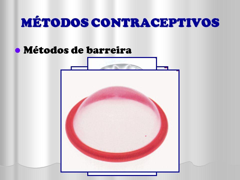 MÉTODOS CONTRACEPTIVOS Métodos de barreira