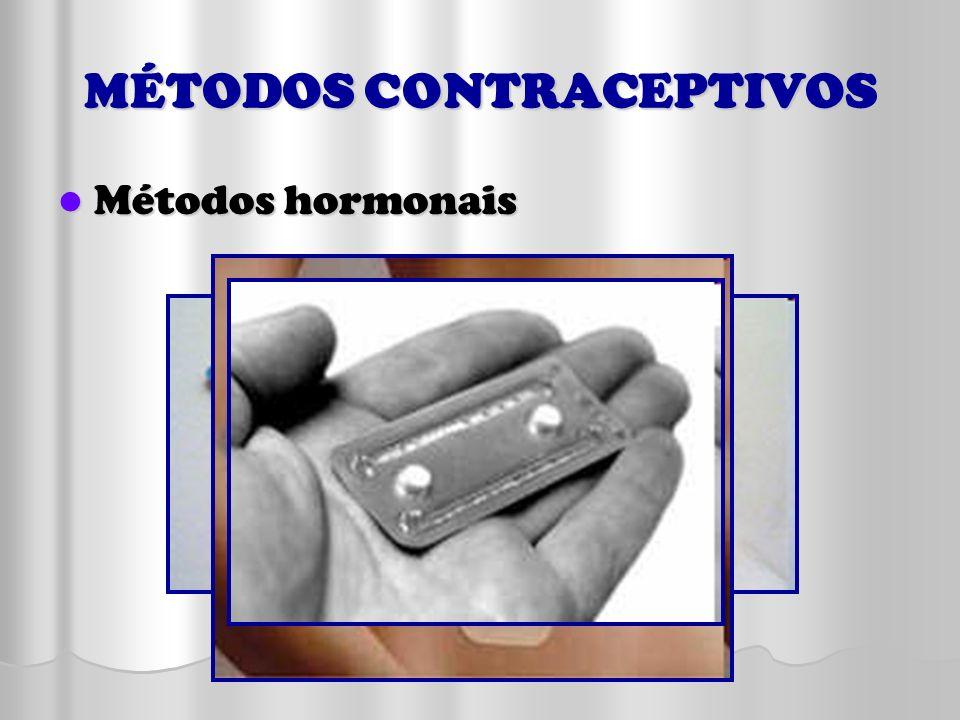MÉTODOS CONTRACEPTIVOS Métodos hormonais Métodos hormonais