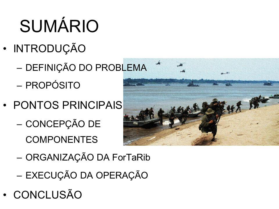 INTRODUÇÃO END Quem cuida da Amazônia brasileira, a serviço da humanidade e de si mesmo, é o Brasil A Marinha adensará sua presença nas vias navegáveis [...] empregando tanto navios, helicópteros, [...] para assegurar sua capacidade de projeção de poder, meios de Fuzileiros Navais.