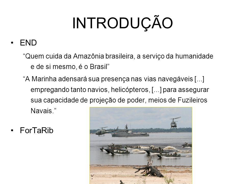INTRODUÇÃO END Quem cuida da Amazônia brasileira, a serviço da humanidade e de si mesmo, é o Brasil A Marinha adensará sua presença nas vias navegávei