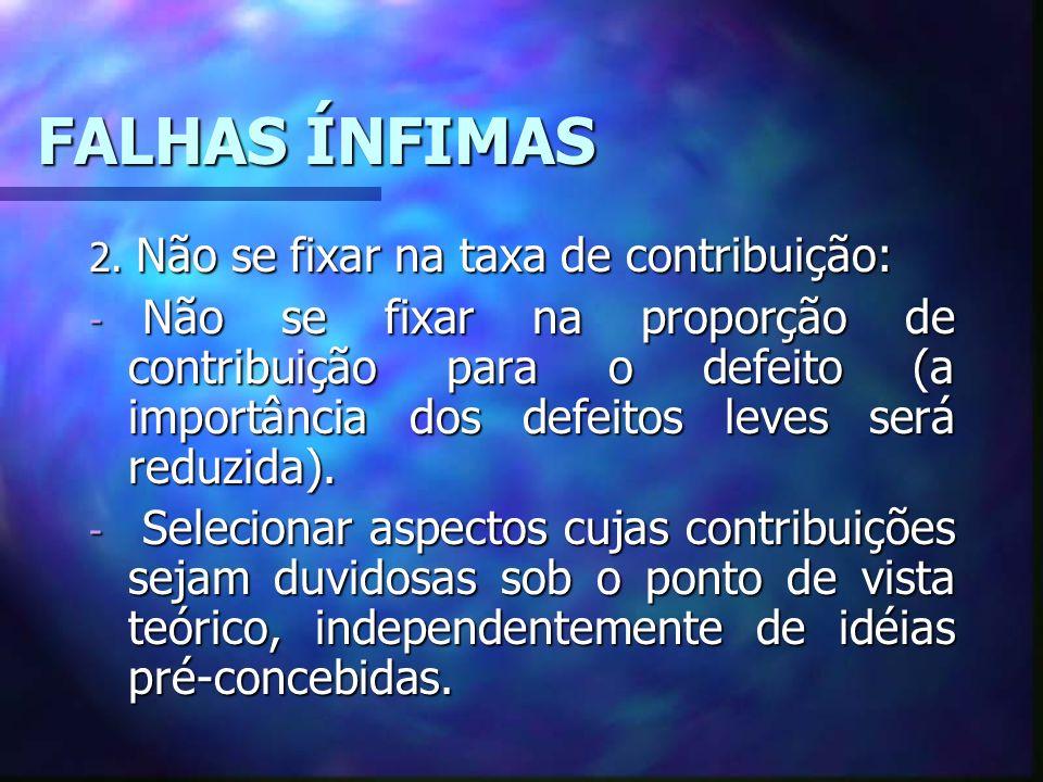 FALHAS ÍNFIMAS 2.