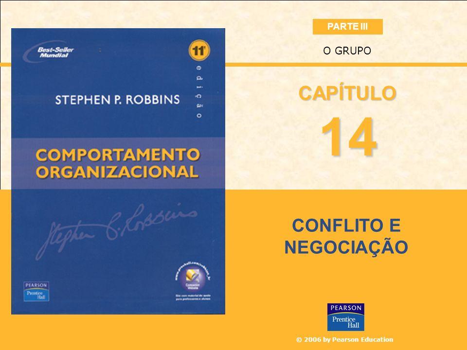 © 2006 by Pearson Education CONFLITO E NEGOCIAÇÃO O GRUPO 14 CAPÍTULO PARTE III