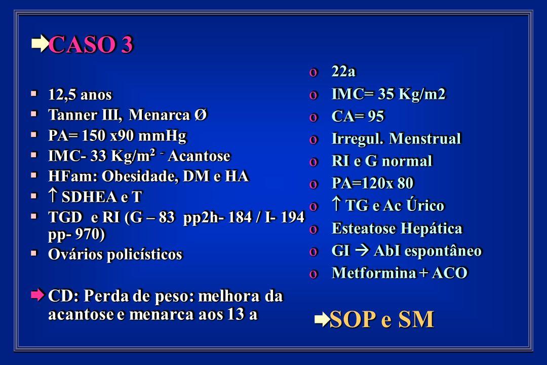 o 22a o IMC= 35 Kg/m2 o CA= 95 o Irregul.