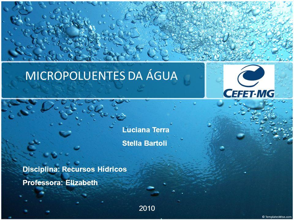 MICROPOLUENTES CONCEITO Os micropoluentes são substâncias presentes em baixas concentrações em águas superficiais e subterrâneas, esgotos domésticos e outros resíduos.