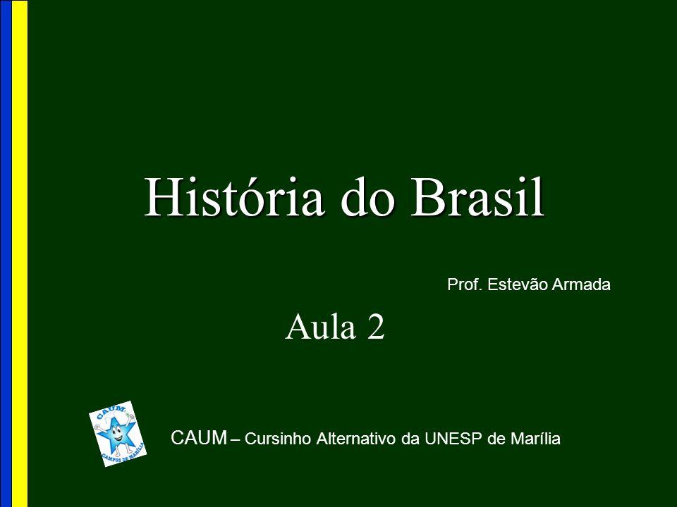 História do Brasil Aula 2 CAUM – Cursinho Alternativo da UNESP de Marília Prof. Estevão Armada
