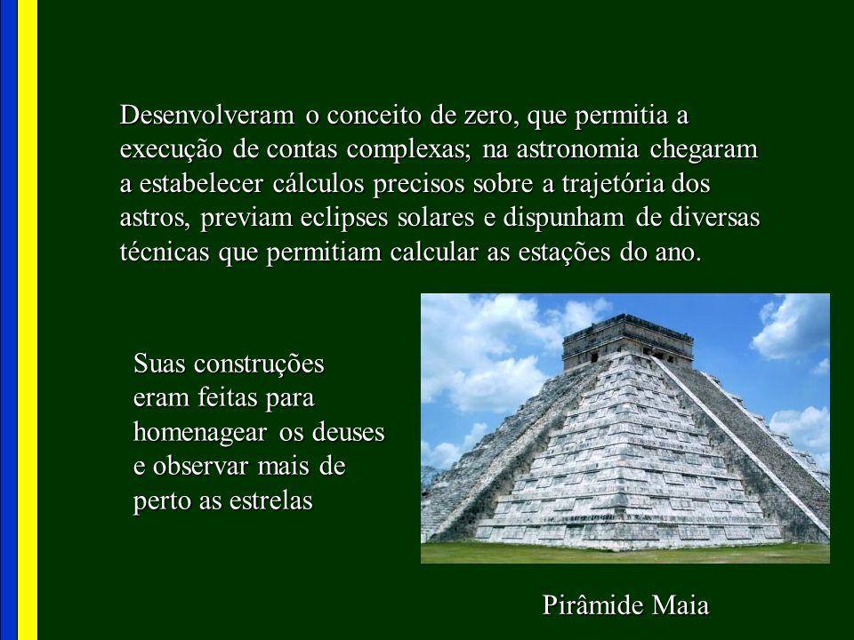 Religiosidade dos Maias Os maias acreditavam que o destino era regido pelos deuses.