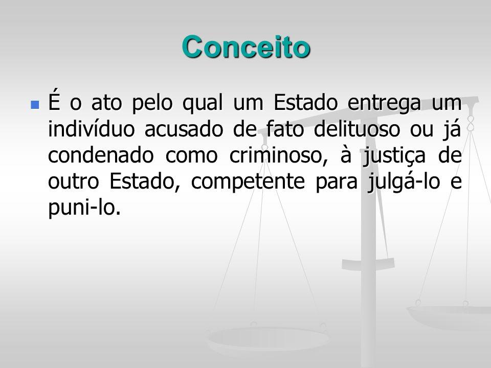 Fundamento Jurídico da extradição tratado – tratado – na falta – promessa de reciprocidade ou declaração de reciprocidade.