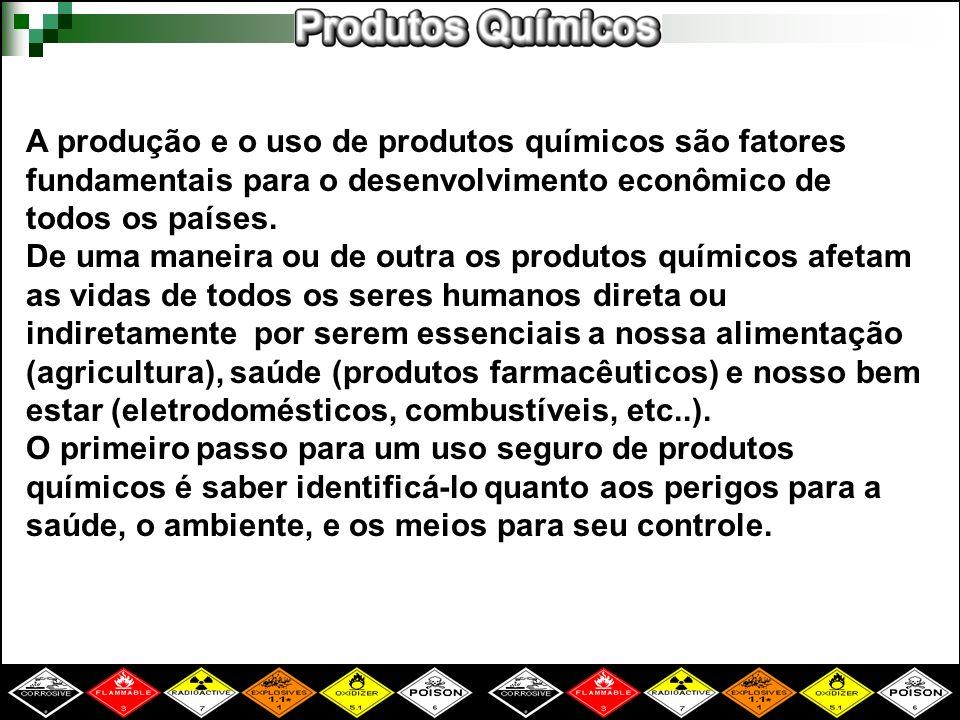 A produção e o uso de produtos químicos são fatores fundamentais para o desenvolvimento econômico de todos os países. De uma maneira ou de outra os pr