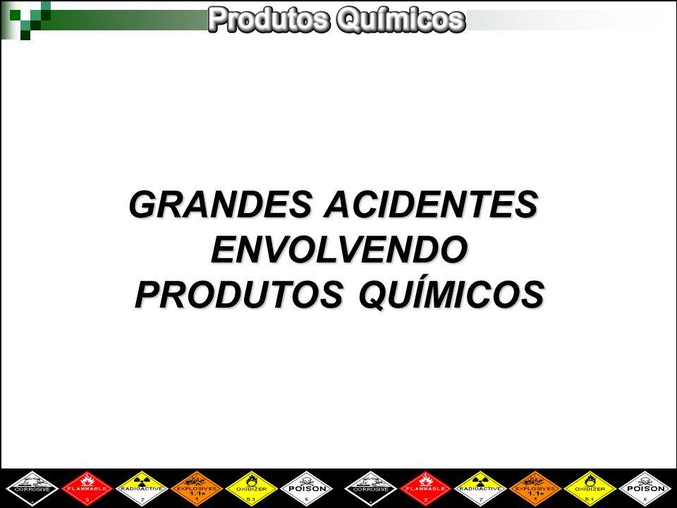 GRANDES ACIDENTES ENVOLVENDO PRODUTOS QUÍMICOS