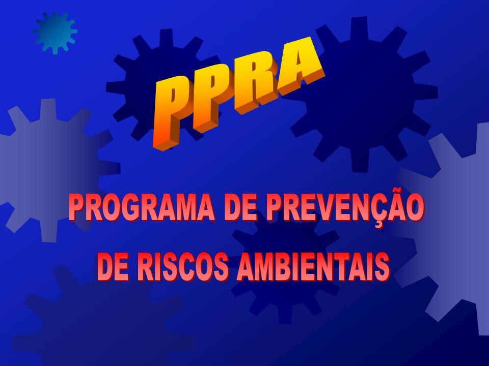 A PRIORIZAÇÃO DE AVALIAÇÕES QUANTITATIVAS PARA OS CONTAMINANTES ATMOSFÉRICOS E AGENTES FÍSICOS DO PONTO DE VISTA DO PROGRAMA DE PREVENÇÃO DE RISCO AMBIENTAIS PODEM SER DEFINIDAS CONFORME A TABELA ANEXA, PARTINDO-SE SEMPRE DO NÍVEL DO GRAU DE RISCO IDENTIFICADO PARA A DEFINIÇÃO DA PRIORIDADE DAS AVALIAÇÕES QUANTITATIVAS A SEREM REALIZADAS.