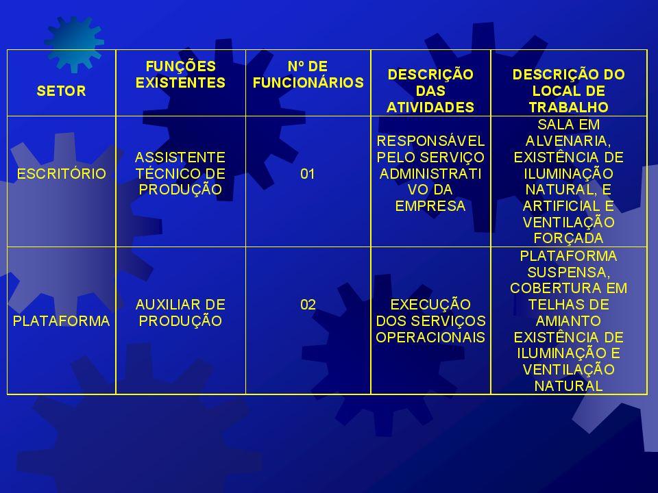 9 - DESCRIÇÃO DAS ATIVIDADES REALIZADAS NOS SETORES DE TRABALHO DESENVOLVER PLANILHA CONTENDO: - A RELAÇÃO DE SETORES; - AS FUNÇÕES DOS TRABALHADORES;