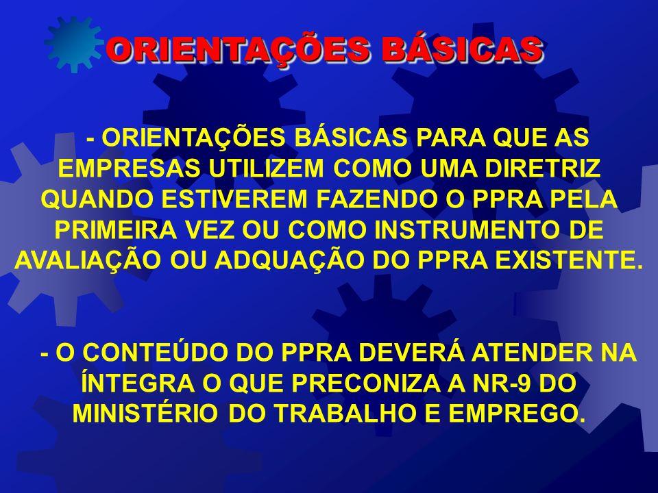 AS MEDIDAS DE CONTROLE A SEREM IMPLANTADAS DEVEM OBEDECER A SEGUINTE ORDEM HIERÁQUICA: I – MEDIDAS DE CONTROLE COLETIVO; II – MEDIDAS DE CARÁTER ADMINISTRATIVO OU DE ORGANIZAÇÃO DO TRABALHO; E III - UTILIZAÇÃO DE EPI.