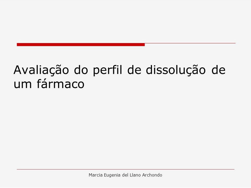 Marcia Eugenia del Llano Archondo Avaliação do perfil de dissolução de um fármaco
