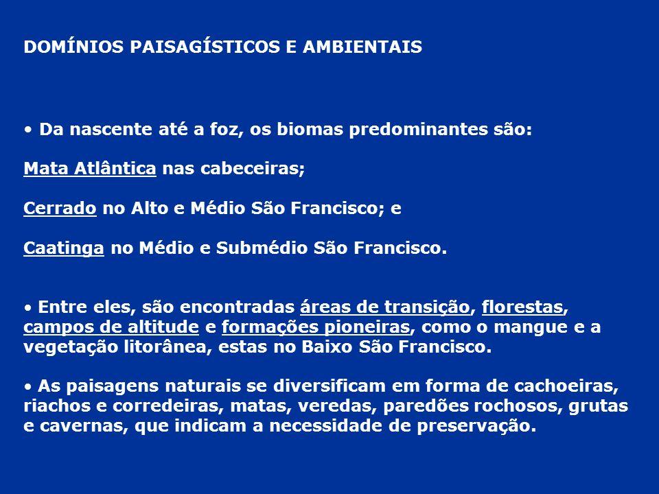 TRECHO 3 – MÉDIO SÃO FRANCISCO (CIDADES BAIANAS) BOM JESUS DA LAPA - BARRA BOM JESUS DA LAPA: GRUTAS E TURISMO RELIGIOSO – CAPELAS FEITAS DENTRO DAS GRUTAS BARRA: ENTREPOSTO COMERCIAL DEVIDO À POSIÇÃO CENTRAL DA CIDADE EM RELAÇÃO AO RIO SÃO FRANCISCO.