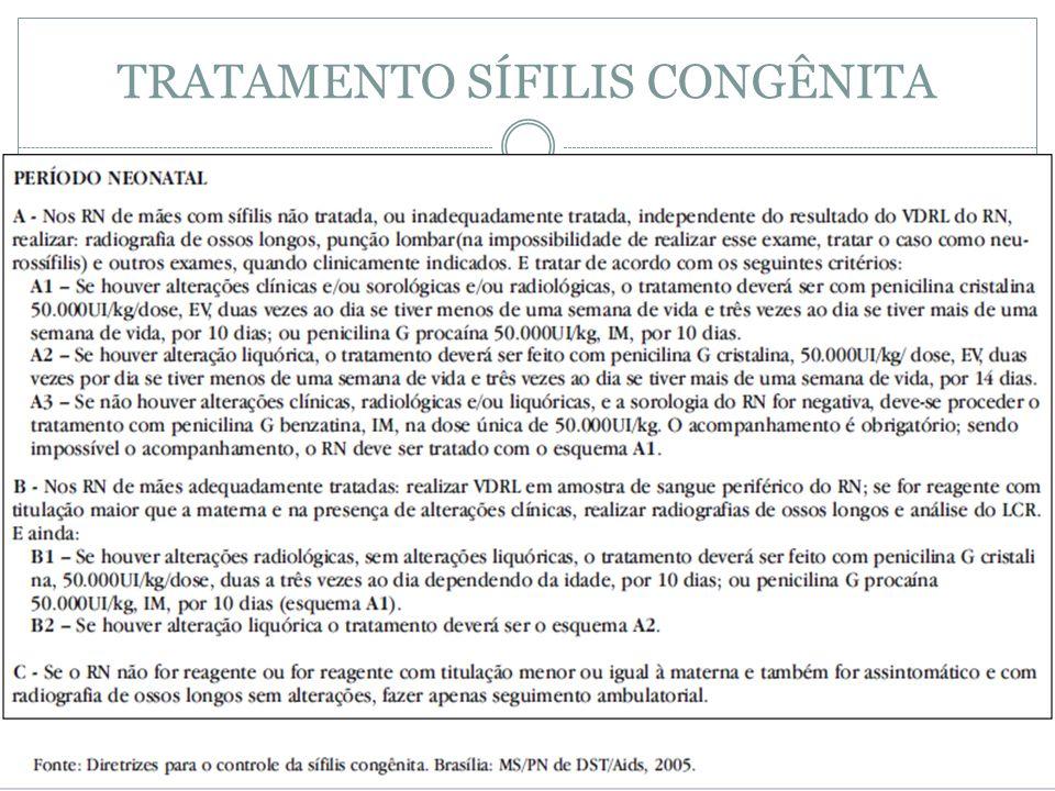 TRATAMENTO SÍFILIS CONGÊNITA