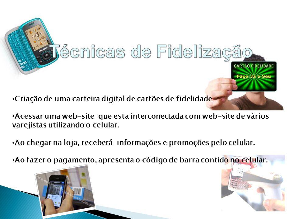 Criação de uma carteira digital de cartões de fidelidade Acessar uma web-site que esta interconectada com web-site de vários varejistas utilizando o c