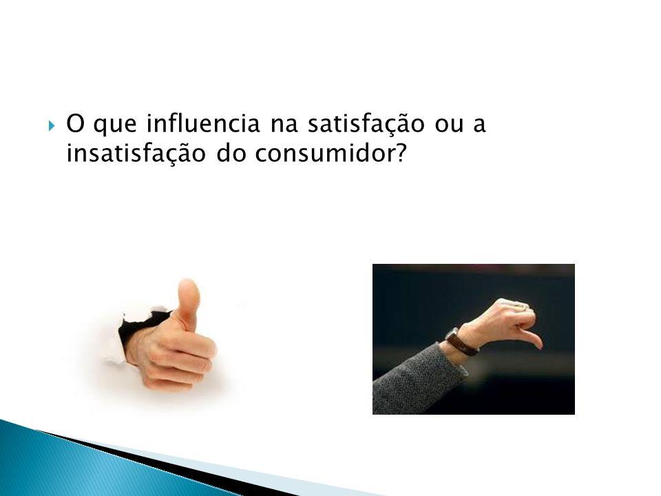 O que influencia na satisfação ou a insatisfação do consumidor?
