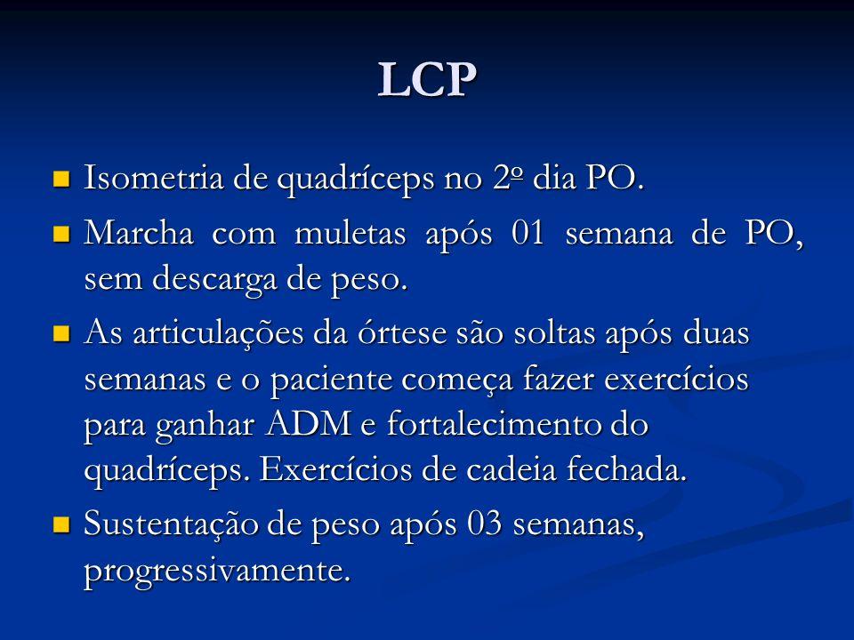 LCP Isometria de quadríceps no 2 o dia PO.Isometria de quadríceps no 2 o dia PO.