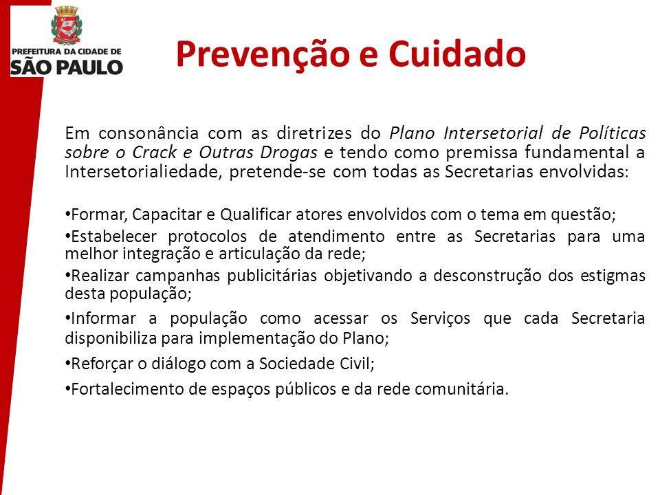 Prevenção e Cuidado Em consonância com as diretrizes do Plano Intersetorial de Políticas sobre o Crack e Outras Drogas e tendo como premissa fundament