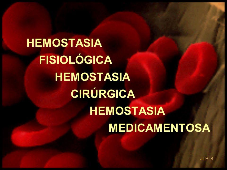 JLP 5 HEMOSTASIA Conceito É o conjunto de mecanismos que dispomos para manter o sangue fluido no interior dos vasos impedindo hemorragias ou tromboses.