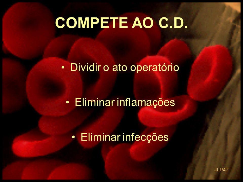 JLP 47 Dividir o ato operatório Eliminar inflamações Eliminar infecções COMPETE AO C.D.