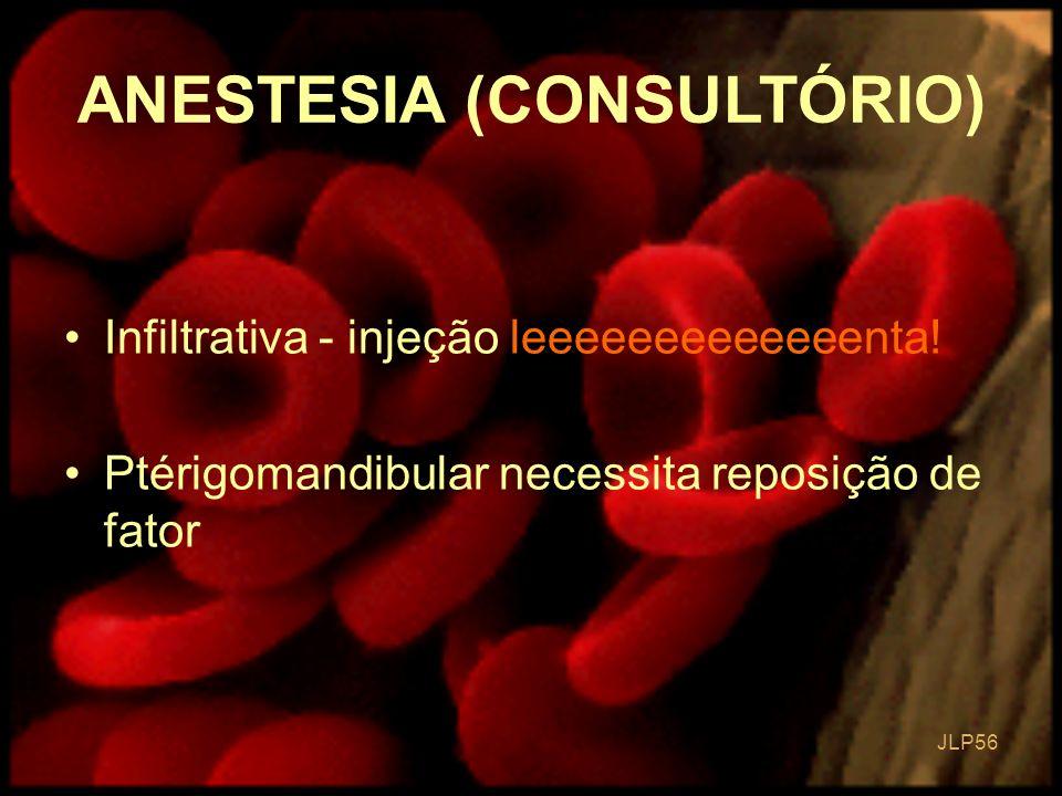JLP 56 Infiltrativa - injeção leeeeeeeeeeeeenta! Ptérigomandibular necessita reposição de fator ANESTESIA (CONSULTÓRIO)