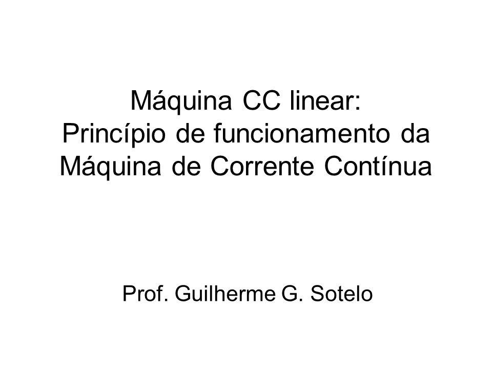 Máquina CC linear: Princípio de funcionamento da Máquina de Corrente Contínua Prof. Guilherme G. Sotelo