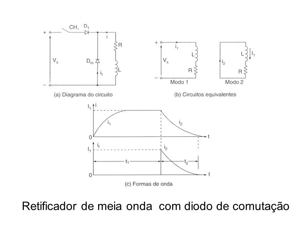 Retificador de meia onda com diodo de comutação