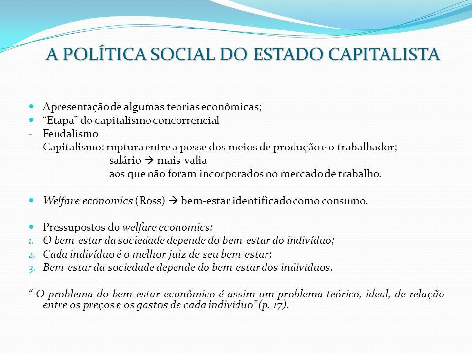 Apresentação de algumas teorias econômicas; Etapa do capitalismo concorrencial - Feudalismo - Capitalismo: ruptura entre a posse dos meios de produção