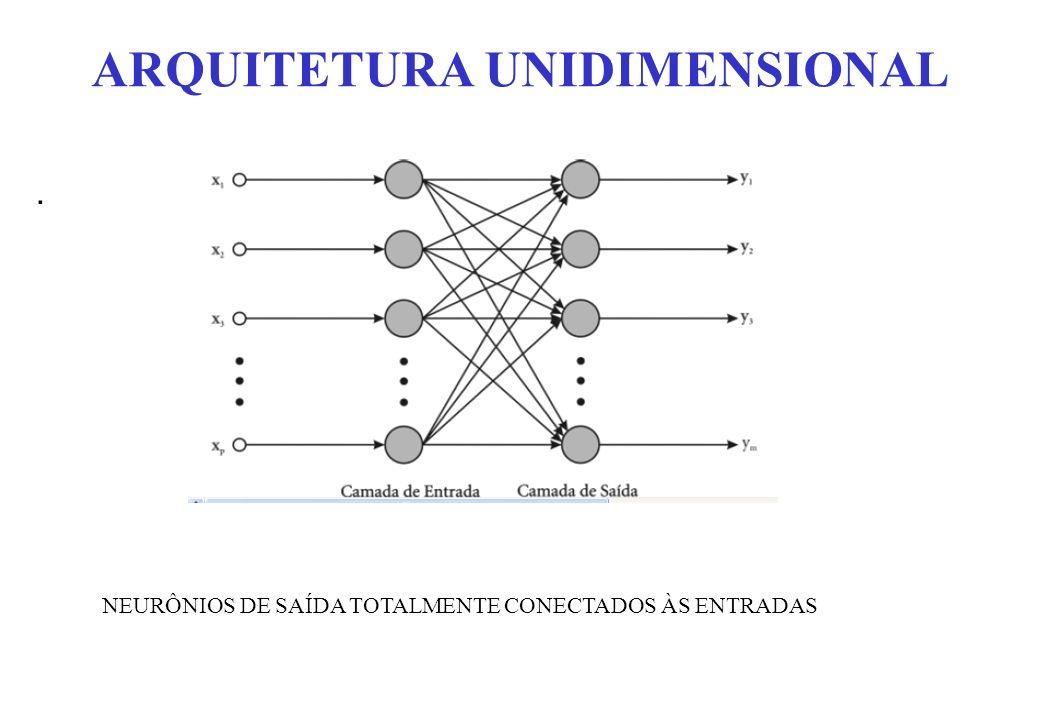ARQUITETURA UNIDIMENSIONAL. NEURÔNIOS DE SAÍDA TOTALMENTE CONECTADOS ÀS ENTRADAS