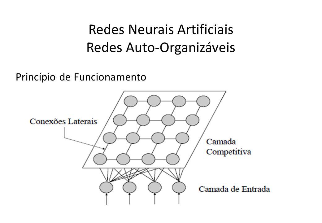 Redes Neurais Artificiais Redes Auto-Organizáveis Princípio de Funcionamento