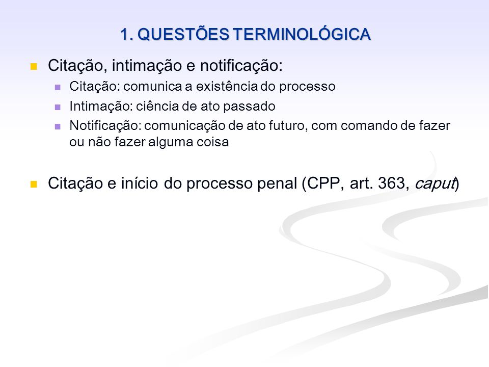 2.CLASSIFICAÇÃO DA CITAÇÕES Citação pessoal e citação ficta Citação pessoal: por mandado (art.
