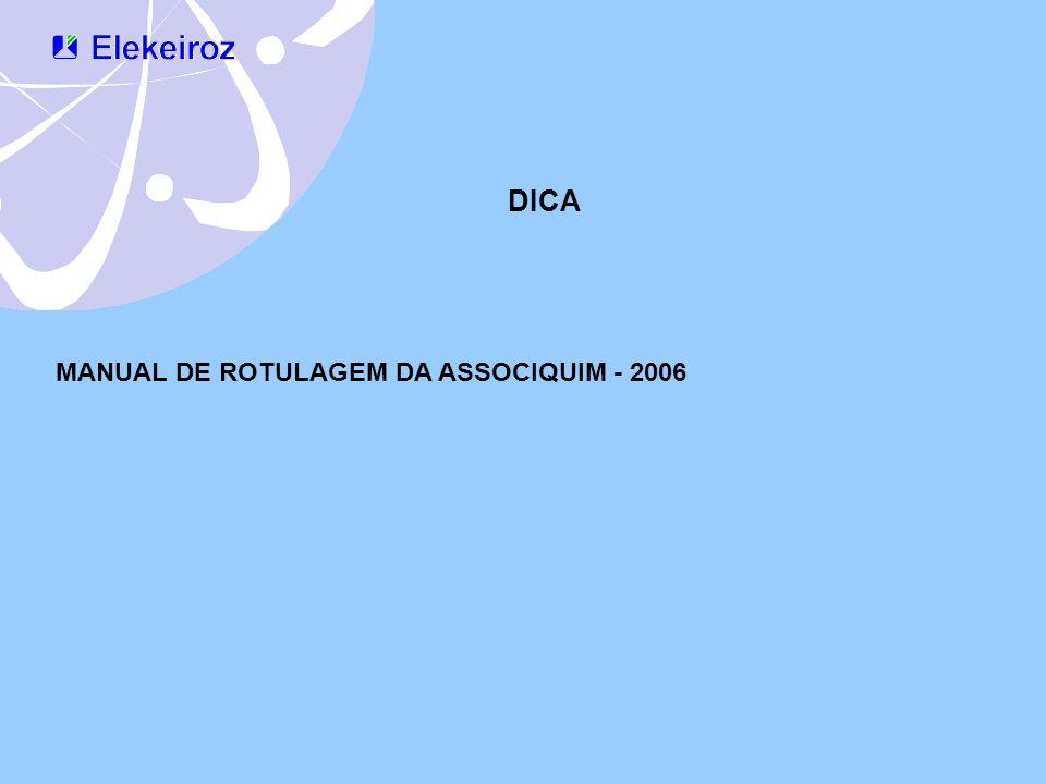 DICA MANUAL DE ROTULAGEM DA ASSOCIQUIM - 2006