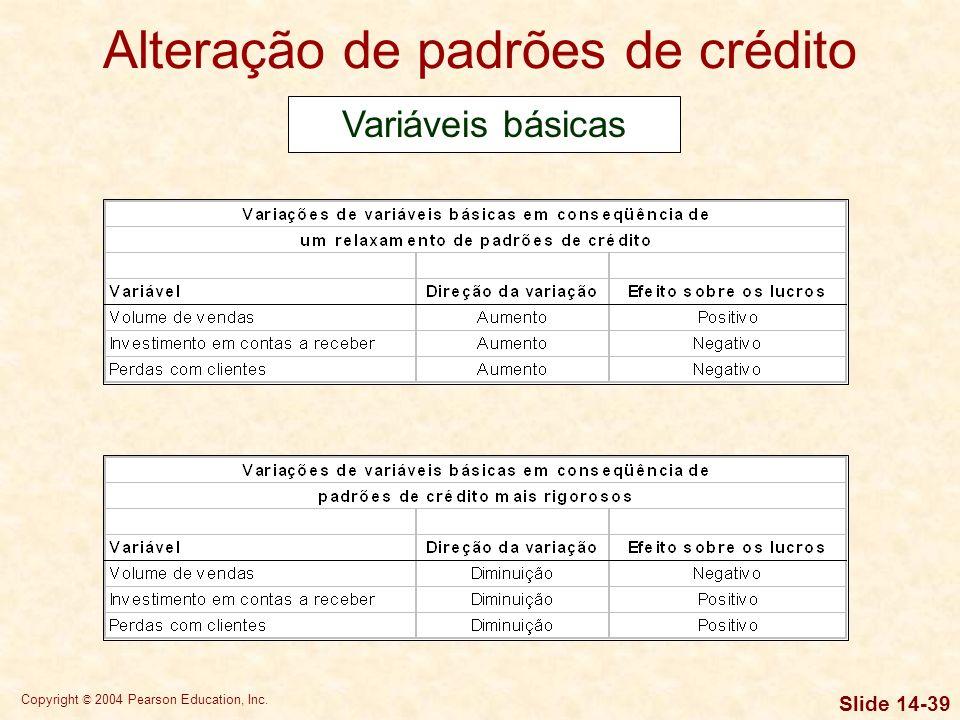 Copyright © 2004 Pearson Education, Inc. Slide 14-38 A atribuição de escores de crédito é um procedimento que resulta em um escore que funciona como m