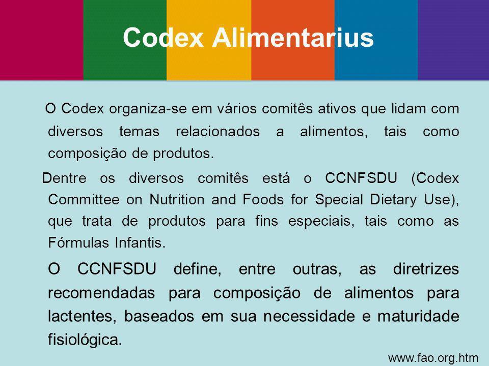 O Codex organiza-se em vários comitês ativos que lidam com diversos temas relacionados a alimentos, tais como composição de produtos. Dentre os divers