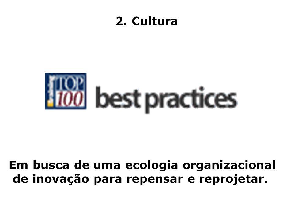 2. Cultura Em busca de uma ecologia organizacional de inovação para repensar e reprojetar.