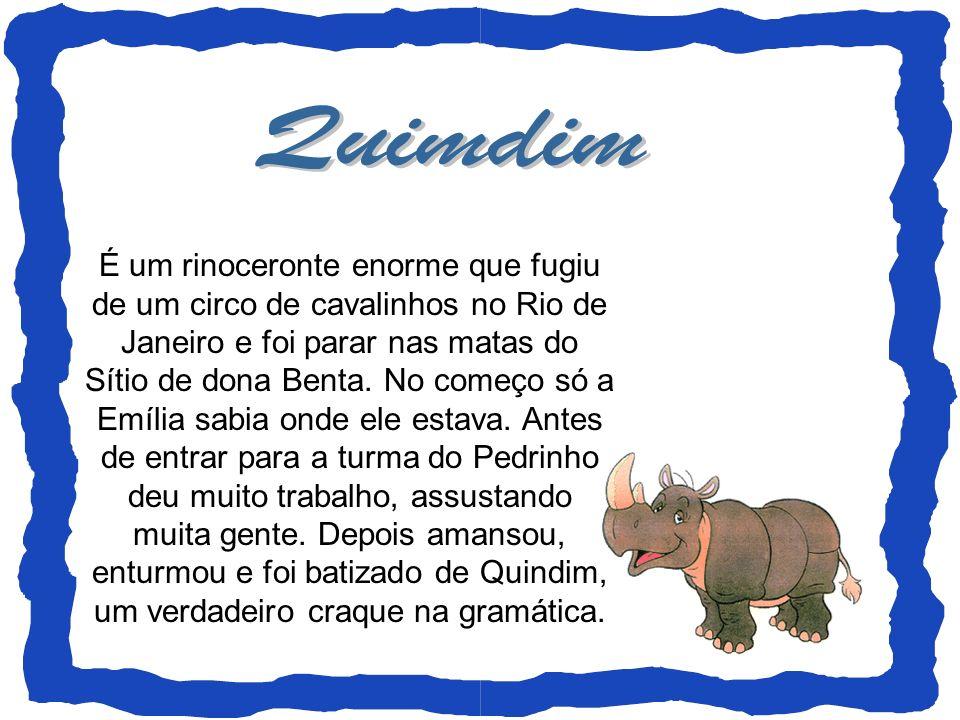 É um rinoceronte enorme que fugiu de um circo de cavalinhos no Rio de Janeiro e foi parar nas matas do Sítio de dona Benta. No começo só a Emília sabi