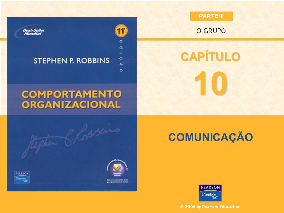 © 2006 by Pearson Education COMUNICAÇÃO O GRUPO 10 CAPÍTULO PARTE III