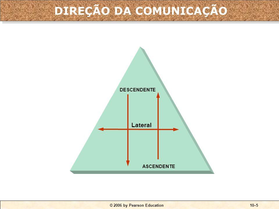 © 2006 by Pearson Education10–5 Lateral DESCENDENTE ASCENDENTE DIREÇÃO DA COMUNICAÇÃO